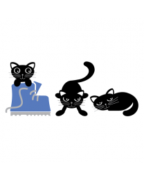 Charcoal the Cat (3 Pack)