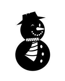 Winking Snowman