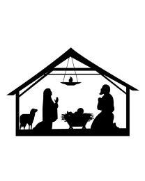 Nativity Scene Silhouette
