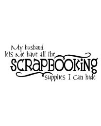 All the Scrapbooking Supplies