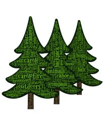 Pine Trees Word Cloud
