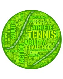 Tennis Ball Word Cloud