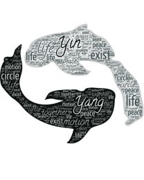 Yin Yang Fish Word Cloud